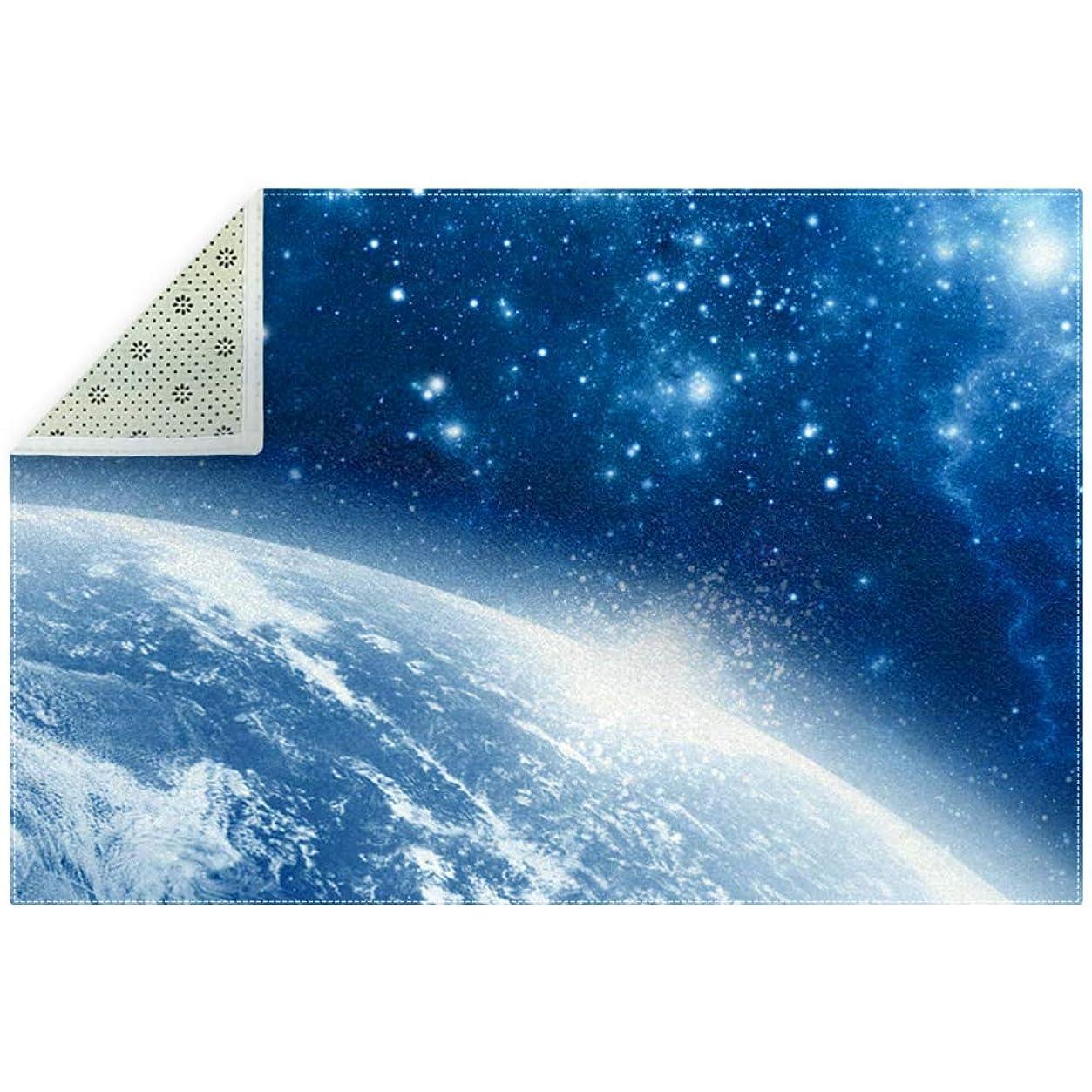 容疑者クリーナー形式AyuStyle ラグ カーペット 200×150cm 星空 夜空 宇宙 ラグマット ホットカーペット フロアマット 個性的 オシャレ 長方形 滑り止め付き