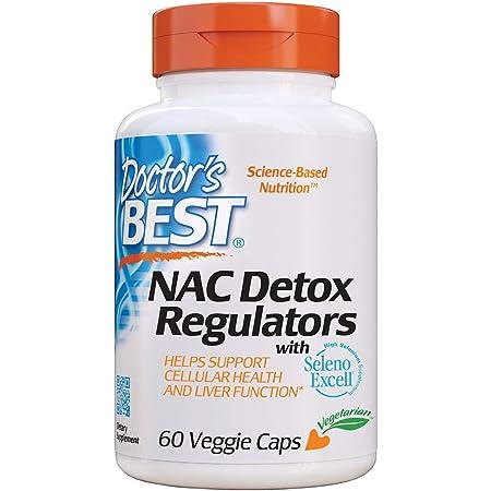 Doctor's Best, NAC Detox Reguladores, 200 mg Depósito, Complemento Alimentario, 60 Cápsulas vegetarianas, sin soya, sin gluten
