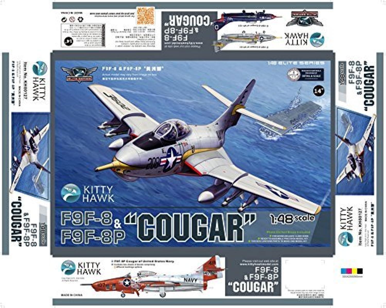 KTH80127 1 48 Kitty Hawk F9F-8   F9F-8P Cougar [modello costruzione KIT] by Kitty Hawk