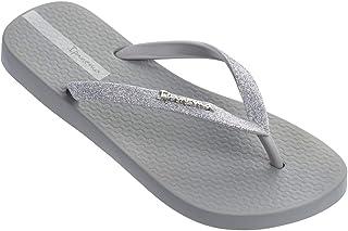 Ipanema Womens Glitter II Flip Flop Sandals, Grey/Dark Grey, 7
