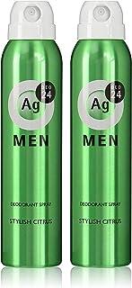エージーデオ24 【医薬部外品】メンズ デオドラントスプレー スタイリッシュシトラスの香り 100g セット ×2個