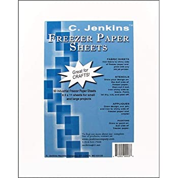 "C. Jenkins 50 Industrial Freezer Paper Sheets 8.5"" x 11"" (Original Version)"