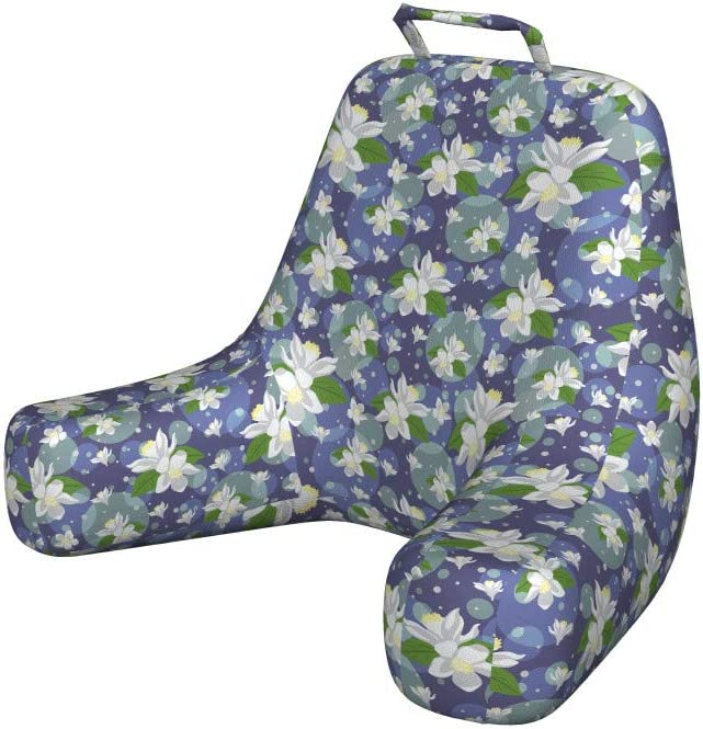 Ambesonne Floral Reading Super-cheap Pillow Lemon Max 86% OFF Flowers Sha Inside Circle