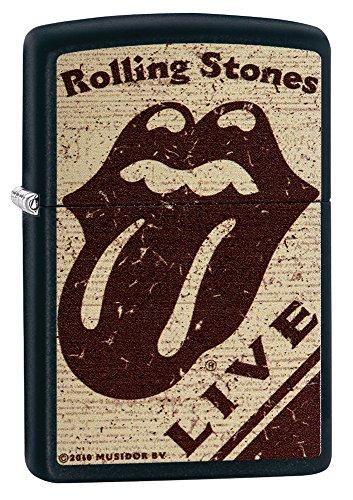 Zippo Rolling Stones Accendino a Benzina, Ottone, Acciaio Inox, 1x 6x 6cm