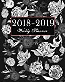 2018 - 2019 Weekly Planner: Calendar Schedule Organizer and Journal Notebook | Floral Matte Cover
