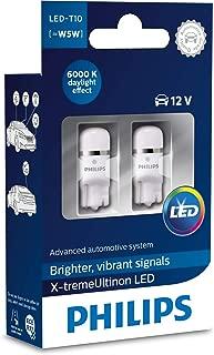 Philips LED T10 W5W Bulbs 6000K Xenon White 1W 12V 2017 New Model 127996000KX2