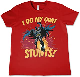 Officially Licensed Batman-I Do My Own Stunts Unisex Kids T-Shirt Age 3-12 Years