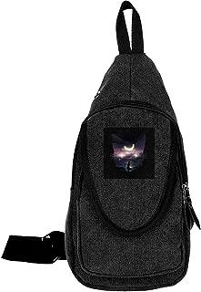 Sailor Moon Luna Face Collage Traveling Chest Bags For Men&Women Multipurpose Casual Daypack Hiking Shoulder Bag