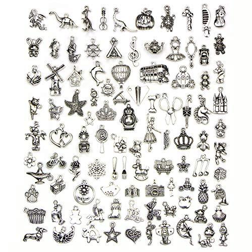 LYsng Accesorios para Hacer bisutería Dijes para bisutería Antiguo Colgante Amuleto de Estilo múltiple Colgante para la elaboración de DIY para Collar