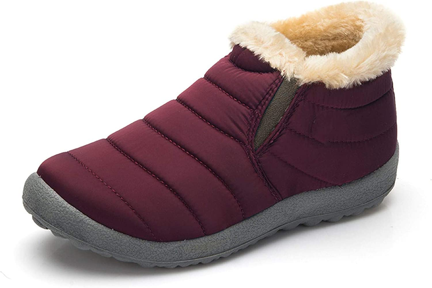 Don't mention the past Size35-48 Waterproof Women Winter shoes Couple Unisex Snow Boots Warm Fur Inside Antiskid Warm Boots