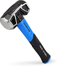 Real Steel 0508 Rubber Grip Forged Jacketed Graphite Drilling Sledge Hammer for Striking 3 lb