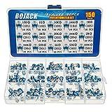 BOJACK 15 Valori 150 pezzi 100 Ohm- 2M Ohm Resistore variabile 6mm Potenziometri e Trimmer Assortment Kit packag in una scatola di plastica trasparente
