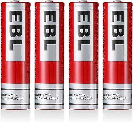 EBL Batería Recargable 2300mAh 3.7V para Linterna, Electrónica Digital, Juguetes de Niños, Alarma
