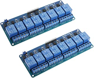 Xiuxin 2pcs 5V 8 Channel Relay Module Board for Arduino PIC AVR DSP ARM