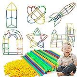 MMTX Bauplatz, Konstruktionsspielzeug, Fort Bausatz, Bauset für Kinder, Lernspielzeug Kreative Spielzeug - Bauen Sie Schlösser, Tunnel, Zelte, Rakete und Spielset, Geschenk für Jungen und Mädchen