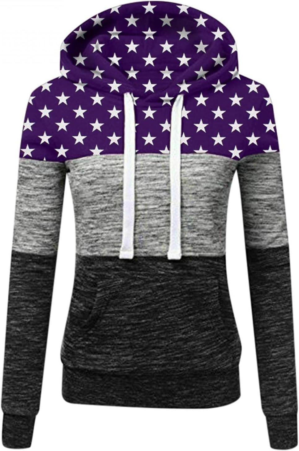Nulairt Womens Active Long Sleeve Fleece Zip Up Hoodie with Plus Size Purple