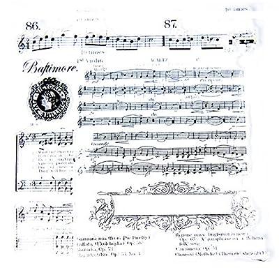 Layhome Hot Selling Clear Stamp Creative Design Music Score 14x14cm (#82)