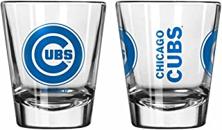 Official Fan Shop Authentic MLB Logo 2 oz Shot Glasses 2-Pack Bundle. Show Team Pride at Home, Your Bar or at The Tailgate. Gameday Shot Glasses for a Goodnight