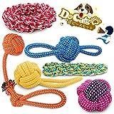 犬ロープおもちゃ 犬おもちゃ 犬用玩具 噛むおもちゃ ペット用 コットン ストレス解消 丈夫 耐久性 清潔 歯磨き 小/中型犬に適用Docatgo