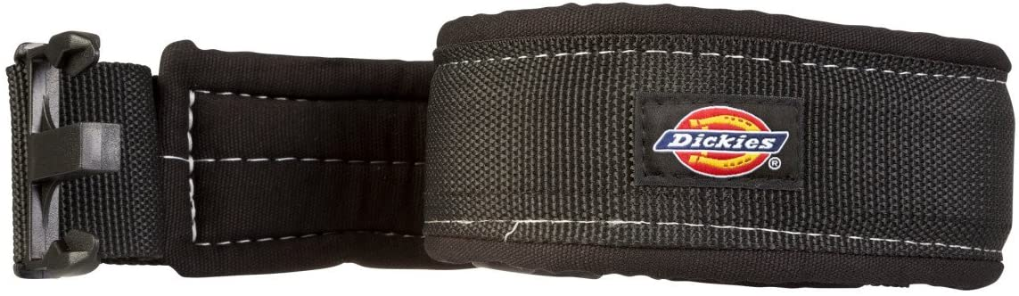 Dickies Heavy-Duty Padded Work Belt for Contractors, Quick-Release Buckle, Adjustable, 3-Inch Width, Holds Most Tool Belt Pouches, Black