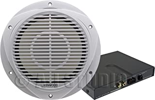 Kenwood P-WD250MRW 10-Inch Marine Subwoofer and Amplifier Package
