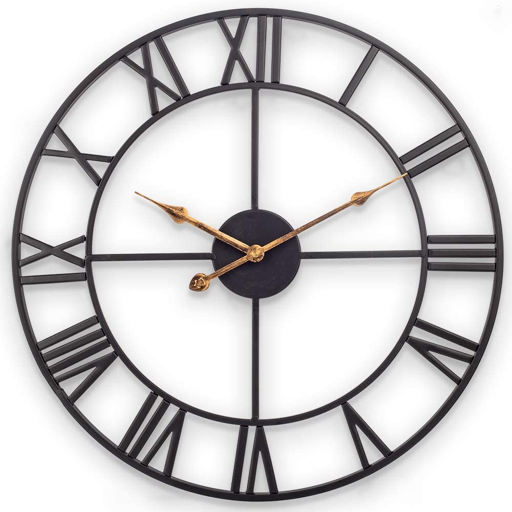 Our shop most popular Time sale Large Wall Clock European Industrial Ro with Vintage