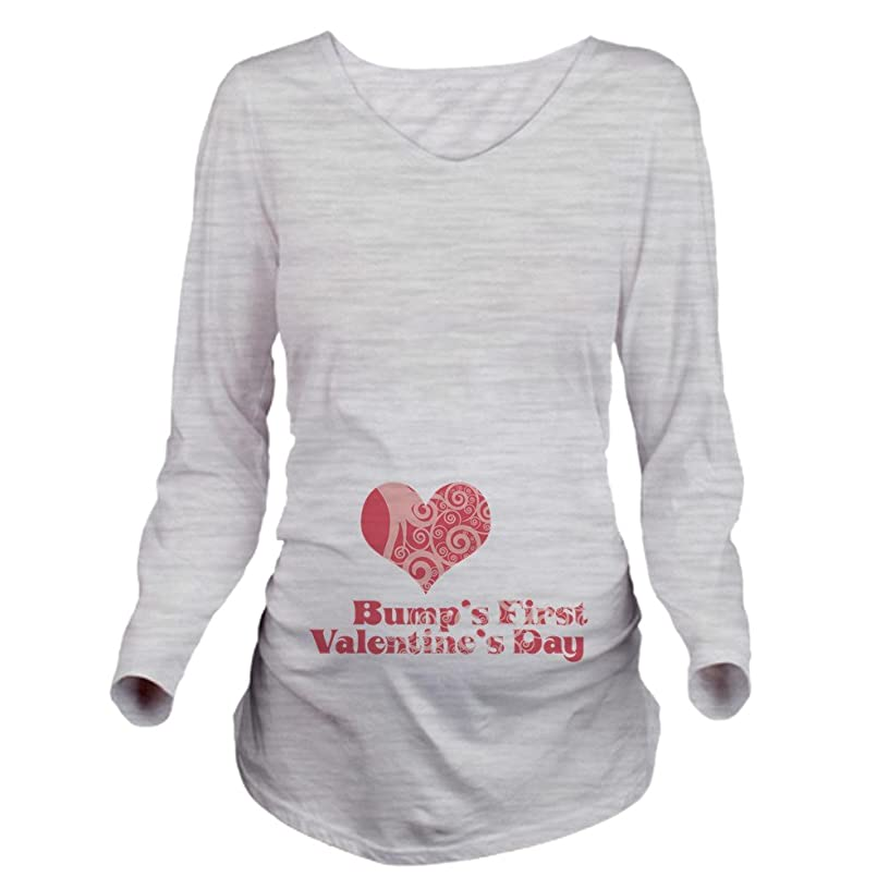 CafePress Bumps First Valentines Day Long Maternity Tee