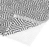 Relaxdays Base Antideslizante para alfombras, Tamaño Ajustable, Protección Antideslizante, 80x200 cm, Blanco