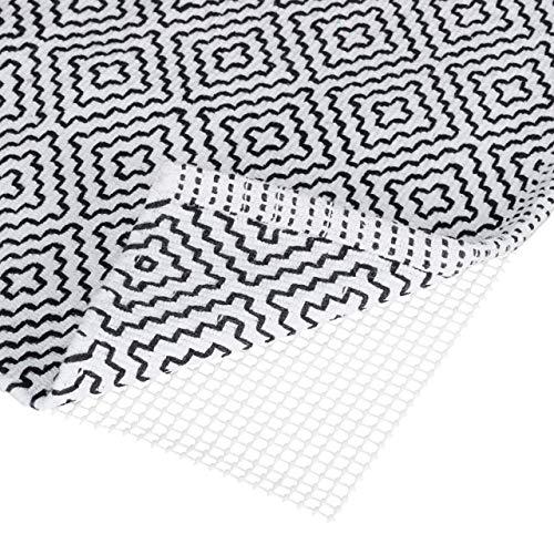 Relaxdays Antirutschmatte für Teppich, zuschneidbare Rutschmatte, Teppichunterlage, Rutschschutz, BxT: 80x200 cm, weiß, 80 x 200 cm