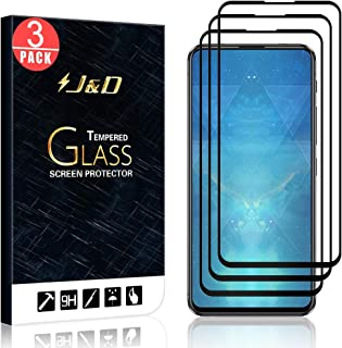 J&D Compatible for 3-Pack ZenFone 6 Screen Protector, [No Lifted Edges] [NOT Full Coverage] Ballistic Tempered Glass Film Shield with Strong Edge Adhesive for ASUS ZenFone 6 Screen Protector