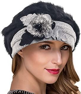 Women French Beret Knit Wool Beret Beanie Church Dress Winter Hats Hy022