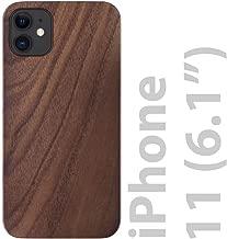 iATO iPhone 11 Wood Case. Real Walnut iPhone 11 Case Wood. Minimalistic Classic Dark Wood iPhone 11 Case 6.1