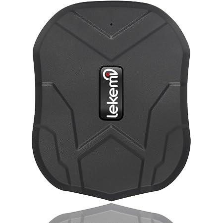LEKEMI Tracciatore di Posizione GPS per Auto / Veicoli Tramite App Gratuita, Magnete Potente e Batteria da 5000mAh