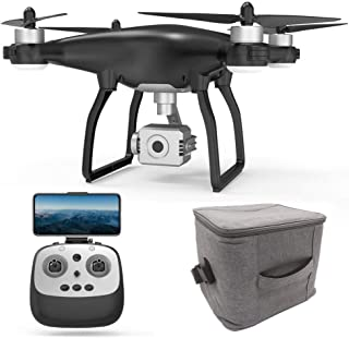 Teeggi X35 FPV GPS Drone with Camera for Adults 4K HD,RC Quadcotper with 3-Axis Gimbal for Beginners,Brushless Motor,Auto Return Home,Follow Me, Altitude Hold,26mins Flight Time,1km Control Range