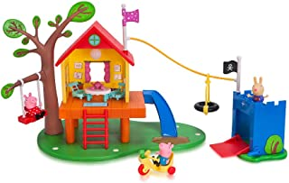 Jazwares Peppa Pig's Kids Toys Treehouse and George's Fort Playset