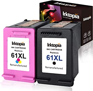Inktopia Remanufactured for HP 61 Ink Cartridges High Yield 1 Black + 1 Tri-Color Ink Level Display for HP Envy 4500 5530 5534 HP Deskjet 1000 1512 2540 3050 3510 HP Officejet 4630 2620 4632 Printer