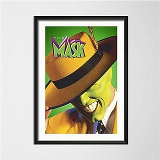 kakyd マスククラシック映画ジムキャリーアートペインティングヴィンテージキャンバスポスター壁家の装飾50X70Cmx1フレームなし