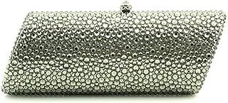 for Party Rhinestone Dinner Bag Lady Handmade Bags Elegant Banquet Clutch Bag Shoulder Chain Bag Dress Hard Shell Gift (Color : 5, Size : M)