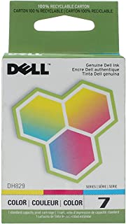Dell DH829 Series 7 310-8375 330-0056 966 968 Ink Cartridge (Color) in Retail Packaging