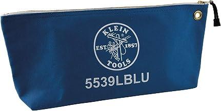 Klein Tools Kanvas Fermuarlı Kese, 40,64 cm Alet Çantası Depolama Düzenleyici, Mavi 5539LBLU