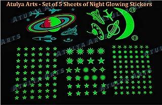 Atulya Arts Ceiling Star Radium Stickers, (165 PCS) Night Glow in The Dark Stars for Ceiling or Wall Sticker, Glowing Star...