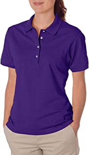 Jerzees Women's Four Button Placket Side Vent Polo Shirt