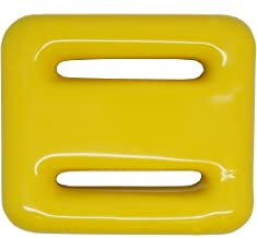 Scuba Choice Yellow Vinyl Coated Diving Lead Weights, 2LB