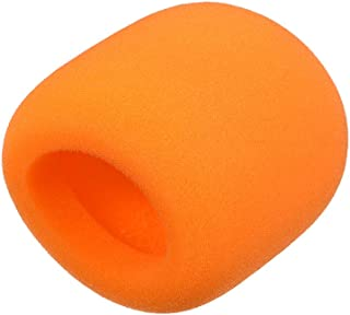 uxcell Thicken Ball-Type Sponge Foam Mic Cover Handheld Microphone Windscreen Shield Protection Orange for KTV Broadcasting