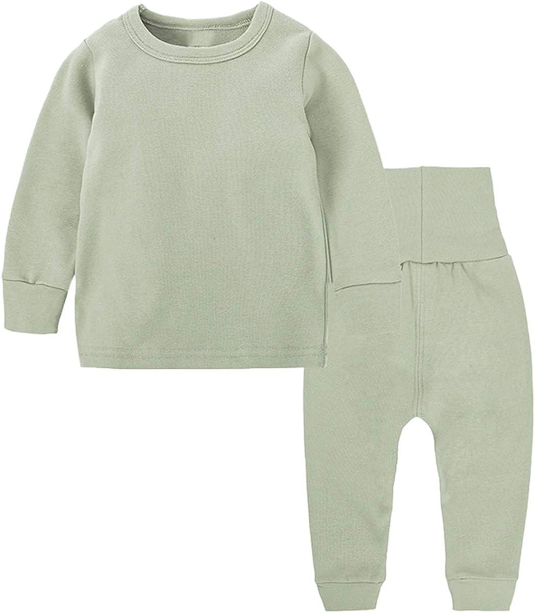 Toddler Boy's Thermal Underwear Set Base Layer Top & Bottom Set, Green, 11-12 Years = Tag 160