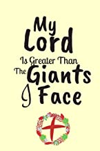 My Lord Is Greater Than The Giants That I Face: Great As Part of Easter Gift Bag : Lined Notebook : 120 Pages