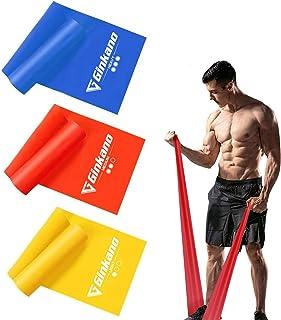 Haquno Bandas Elasticas Fitness[Set de 3] 1.5M /1.8M /2M,Cintas Elasticas con 3 Niveles de Resistencia, Pilates, Crossfit, Estiramientos, Musculacion, Piernas, Brazos, Fuerza
