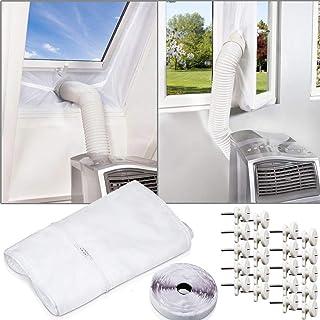 Hakeeta Copertura del condizionatore dAria per Le unit/à Esterne 3p (92 * 35 * 69) Rivestimento in Poliestere Resistente Tessuto Resistente allAcqua Design Antivento per la casa