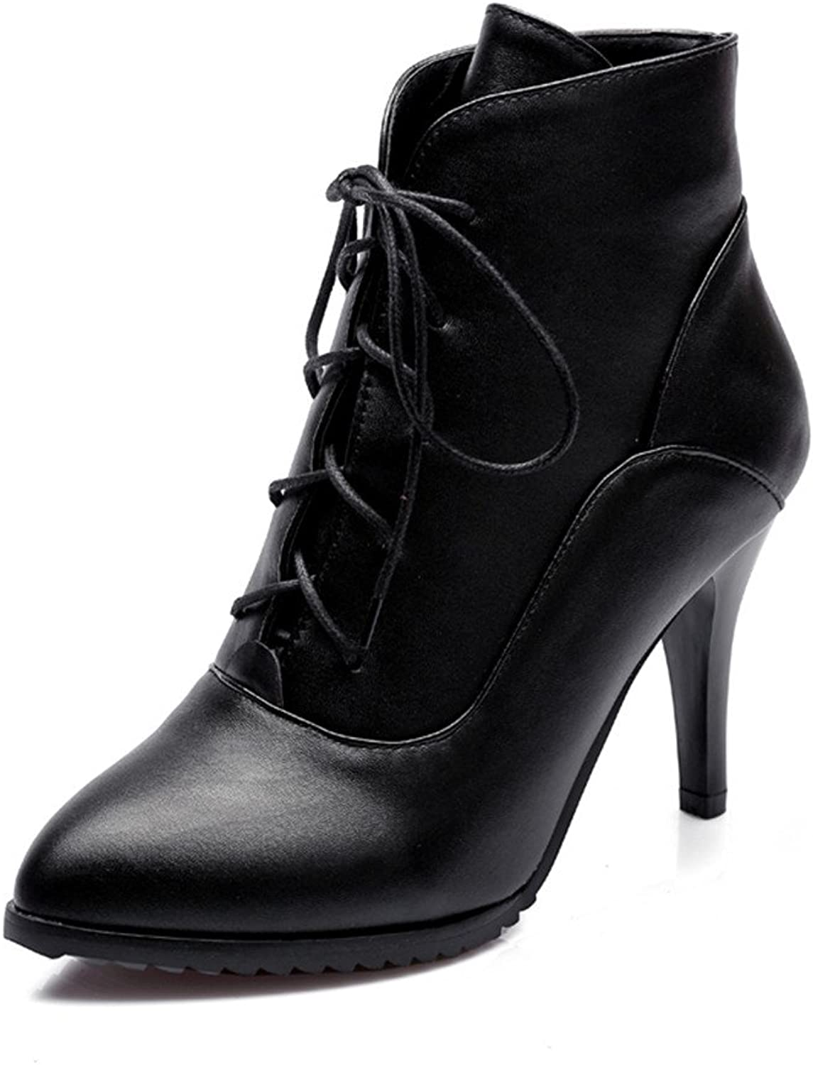 Fashion Heel Womens Stiletto Heel Pointed Toe Handmade Dress Ankle Boot