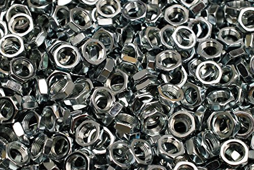 (250) Hex Panel Nuts 1/8-27 Pipe Thread - Zinc Plated - 1/8-27 x 3/16 x 9/16 Nut